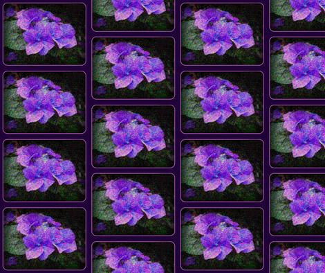Hydrangeas Seurat Style fabric by mammajamma on Spoonflower - custom fabric