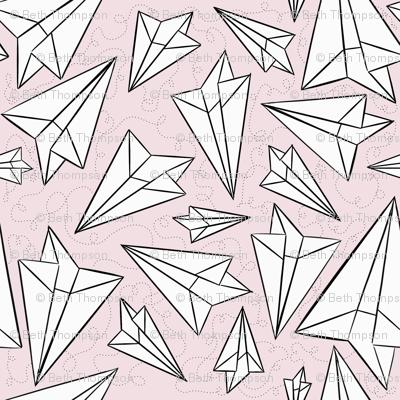 Paper Airplanes Blush