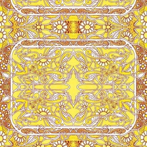 Celtic Paisley Lemon Sun Twist