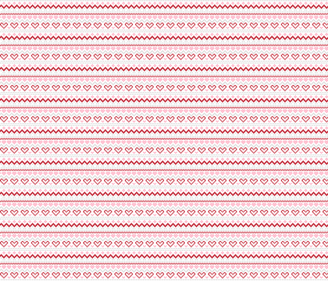 christmas knits red pink no1 fair isle fabric by misstiina on Spoonflower - custom fabric