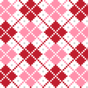christmas knits red pink no3 argyle