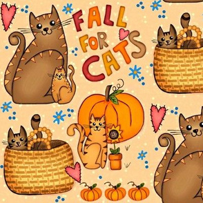Fall for Cats /Neutrals w/ pops of pink,orange & blue