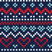 christmas knits red blue on navy no1 fair isle