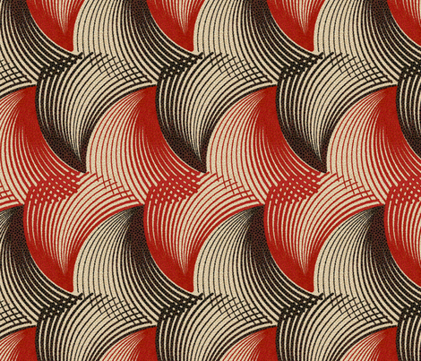 Les Coquillages 2a fabric by muhlenkott on Spoonflower - custom fabric