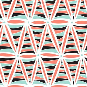 Bliss Triangles (Coral and Mint)