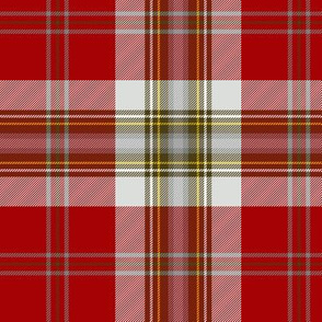 MacLean of Duart dress red tartan variant, 6""