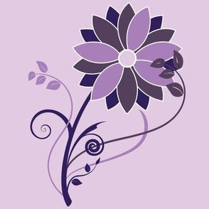 Stylized Flower - 12in (purple)
