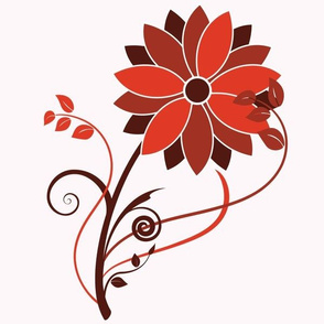 Stylized Flower - 12in (red)