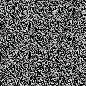 Leafy Swirl - 2in (black)