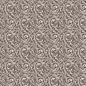 Leafy Swirl - 2in (brown)