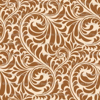 Leafy Swirl - 2in (coffee)