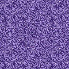 Leafy Swirl - 2in (dark purple)