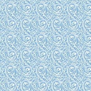 Leafy Swirl - 2in (light blue)