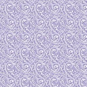 Leafy Swirl - 2in (light purple)