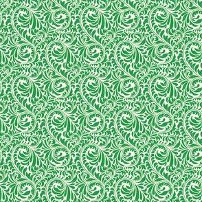 Leafy Swirl - 2in (yellow green)