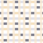 Grid In Soft Peach & Gray