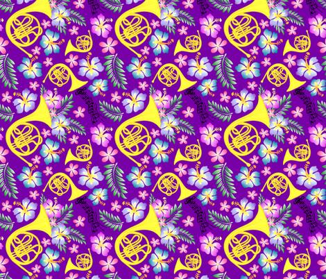 Basic Purple Horn fabric by fleurette7 on Spoonflower - custom fabric