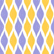 Violet and yellow rhombuses