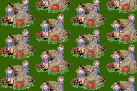 Scarecrow Hangout by Graphic Glee fabric by graphicglee on Spoonflower - custom fabric