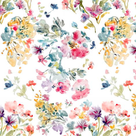 Dreamy Soft Floral fabric by susan_magdangal on Spoonflower - custom fabric