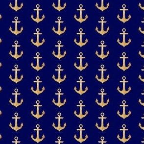 Tiny Gold  Anchor