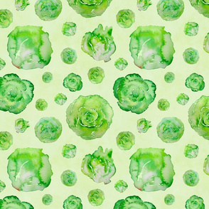 lettuce pattern on green