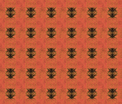 Anansi in Orange fabric by twigsandblossoms on Spoonflower - custom fabric