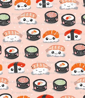 Kawaii Sushi on Salmon Hex