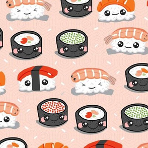 Kawaii Sushi on Salmon Hex