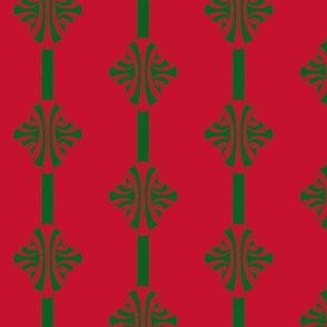 Green Candy Cane Poles