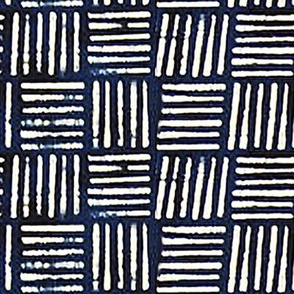 Mudcloth Weave Pattern // Blue