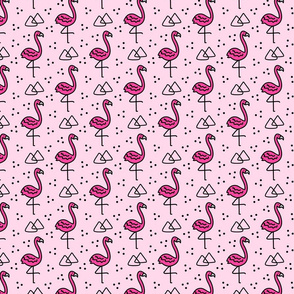 Flamingoes in Pink