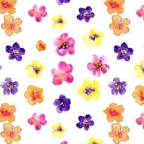 Ditzy Flowers Seamless Pattern