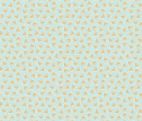 Fairy Bread on Mint (smaller scale) fabric by she's_that_wallflower on Spoonflower - custom fabric