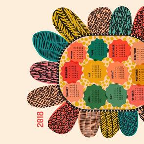 Blooming Bold 2018 Calendar