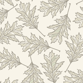 Oak Leaves - Cream