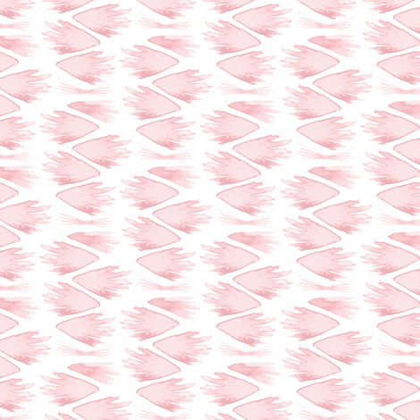 Pastel Pink Feathers || Spots drops stripe fabric by misschiffdesigns on Spoonflower - custom fabric