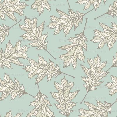 Oak Leaves - Light Mint