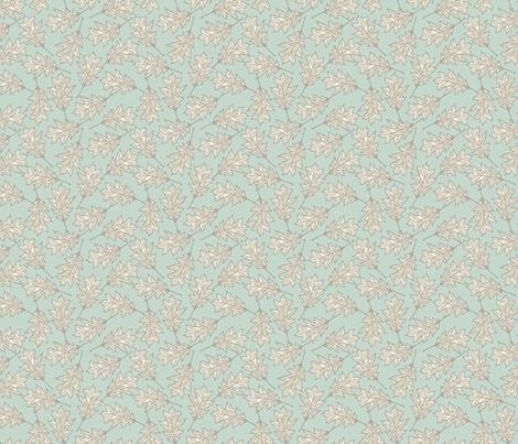 Oak Leaves - Light Mint fabric by fernlesliestudio on Spoonflower - custom fabric