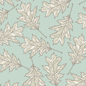 Oak Leaves - Light Mint