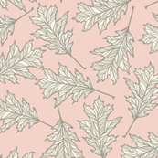 Oak Leaves - Pale Blush