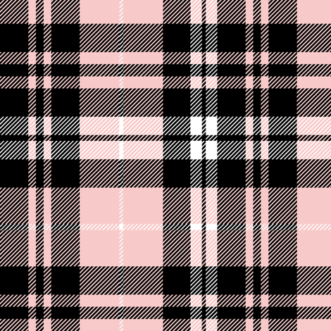 Fall plaid (Pink, Grey, Black)  fabric by littlearrowdesign on Spoonflower - custom fabric