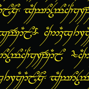 Gold Elvish Writing Medium