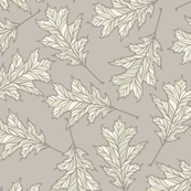 Oak Leaves - Taupe