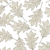 Oak Leaves - White