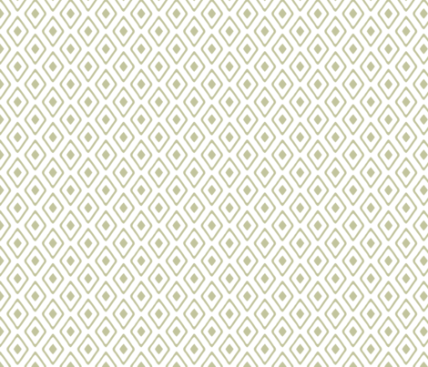 Diamond in Diamond - Marsh, White fabric by fernlesliestudio on Spoonflower - custom fabric