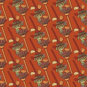 Fall Cleanup Tile on Pumpkin Spice