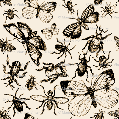 Bugs-pattern-brown-cartoon_preview
