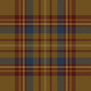 "Williams tartan, 6"" brown/navy"