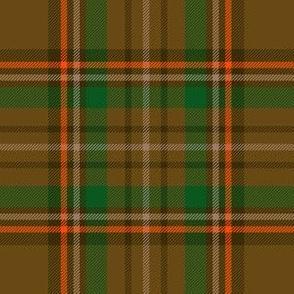 """Williams tartan, 6"""" brown/green"""